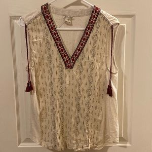 Lucky Brand Sleeveless Top Size M